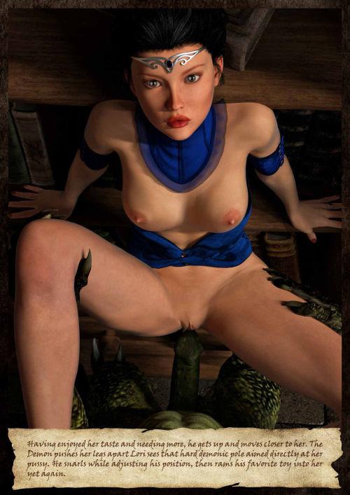 Hibbli3D – Sorceress Lori - Sold To Demons - part 2